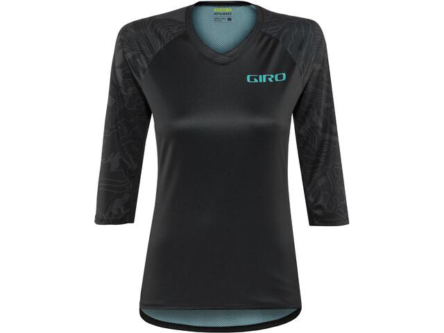 Giro Roust 3/4 MTB Jersey Dame black floral